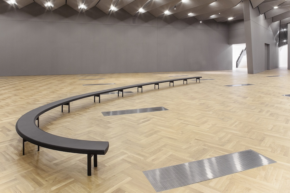 Aluminum Bench / Sainsbury Gallery